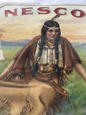 Nesco Cigar Label Indian Maiden