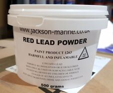 Red Lead Powder 500grms for Red Lead Putty for stopping Boat Seams FREE Delivery