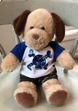 "Build A Bear 18"" Plush Puppy Dog/ Cute Outfit/ Green Camo Shorts🐶🎁"