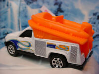 2014 SEA RESCUE Design☆FORD F-250 SUPER DUTY☆white; w/Orange Raft☆Loose Matchbox