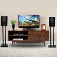 "24"" Premium Surround Sound Book Shelf Speaker Stand W/Non-Slip Pads Durable"