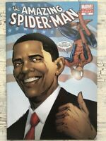 MARVEL THE AMAZING SPIDER-MAN -BARACK OBAMA 3rd Print Variant #583 -Unread Copy!