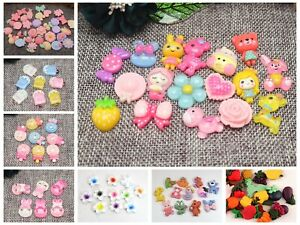 50 Flatback Resin Cute Animal Candy Flower Cabochons Scrapbooking Craft Various