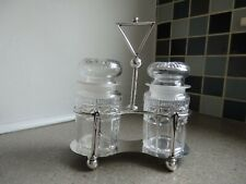 Vintage Mappin & Webb Silver Plate Preserve Stand + Original Glass Pickle Jars