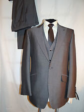 £299 WILVORST-GERMANY FAB ELEGANT SLIM LINE GREY 3-PIECE DRESS SUIT UK 38L