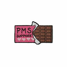 PMS SUPPORT CHOCOLATE EMBROIDERED PATCH IRON ON BADGE GIFT CUTE TUMBLR KAWAII