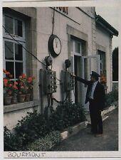 1984  --  CHEF DE GARE AU TRAVAIL A BOURMONT   3F304