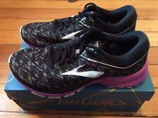NEW Brooks Launch 5 Women's Running Shoes - Black/Purple - Sz 8