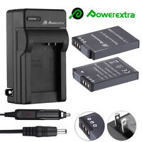 2x EN-EL12 Battery +Charger For Nikon Coolpix AW110 AW100 S710 S8200 S6000 S6300