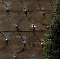 05 Led Outdoor Net Lights Solar Powered White Garden Fairy String Wall Effect