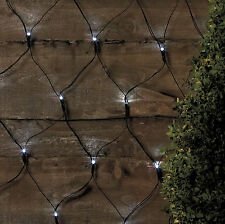 105 Led Outdoor Net Lights Solar Powered White Garden Fairy String Wall Effect