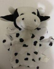 Velour Cow Animal Hand Puppet Farm, Safari Animal ANIMAL TYPE MAY VARY
