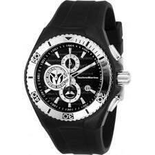 TECHNOMARINE MEN'S CRUISE 46MM SILICONE BAND STEEL CASE QUARTZ WATCH TM-115344