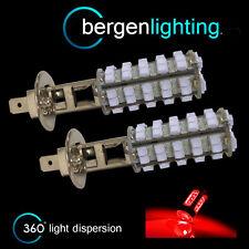 2X H1 ROSSO 60 LED ANTERIORE LAMPADINE PER FARI FENDINEBBIA SUPPLEMENTARI