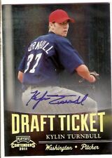 KYLIN TURNBULL AUTOGRAPH ROOKIE 2011 PLAYOFF CONTENDERS DRAFT TICKET NATIONALS