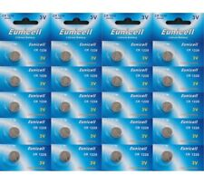 20 X EUNICELL CR1220 3 VOLT LITHIUM BUTTON/COIN BATTERIES
