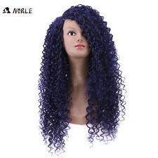 Long curly Blue Lace Wigs For Black Women violet afro kinky curly Hair wig