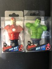 "Lot of  2 MARVEL AVENGERS - IRON MAN & Incredible HULK - 3"" MINI BUST"
