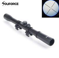 4X20 Optic Sniper Scope Reticle Sight W/Mounts For .22 caliber Rifle Hunting