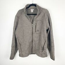 Avalanche Mens Gray Fleece Lined Full Zip Sweater Size Large