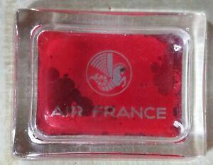 """Ancien cendrier AIR FRANCE en verre """"Pégase"""" ,transport aérien ,1950/1960..."""