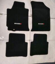 Fits 07-12 Nissan Altima 4 Door Black Nylon Floor Mats W/Emblem (Fits: 2009 Nissan Altima)