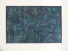 + Peinture huile sur isorel Abstrait 1970 Space Age signé Jack Ray +