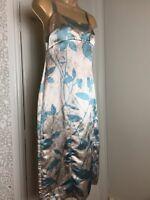 Fenn Wright Manson Ladies Sundress Silk & Linen Sleeveless Pencil Shape Size 10