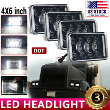4X LED Headlights For Freightliner FLD120 FLD112 4x6'' Light Hi/Lo Sealed Beam