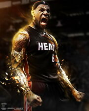 "60 LeBron James Miami Heat 2012 NBA Champion MVP 14""x18"" Poster"