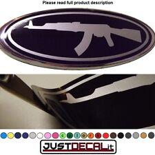 6.35x2.375 AK 47 overlay decal sticker ak-47 gun military FITS spec. ford emblem