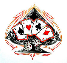 * T-Shirt Rockabilly Biker Skull Poker spielkarten dices Tribal Gothic *1130