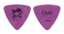 The Cult Chris Wyse Purple Bass Guitar Pick - 2010 Tour