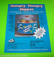 Ice Inc. Hungry Hungry Hippos 1991 NOS Arcade Redemption Game Promo Sales Flyer
