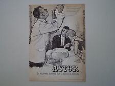 advertising Pubblicità 1961 CIGARETTES SIGARETTE ASTOR