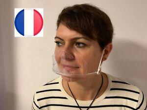 Masque Visière de Protection Transparent couvre nez anti-bué , salive, germe