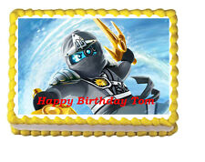 Ninjago Kai Edible party Cake Topper 1/4 Icing Frosting sheet