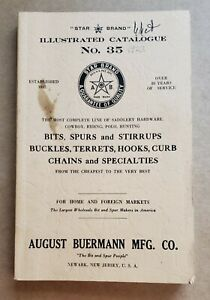 Vintage August Buermann Catalog #35 -- Spurs, Bits, Etc.