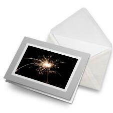 Greetings Card (Grey) - Sparkler Sparks Firework Fun  #2164