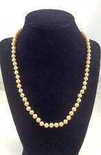(A33) Strand of Simulated Pearls Signed PATP Necklace