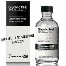 GLYCOLIC ACID Chemical Skin Peel Kit 10% 30% 50% 70% + Neutralizer or Peel Prep