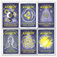 Foundation Series Isaac Asimov 6 Books Collection Set Pack NEW Second Foundation
