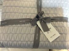 Gramercy West Elm F/Q Quilted Coverlet NWT! Platinum Gray