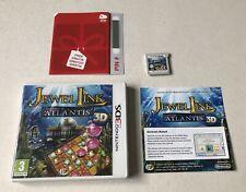 Jewel Link Legends Of Atlantis Nintendo 3DS Complete PAL