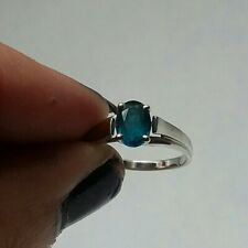 Ceylon Blue Topaz Ring 10k White Gold