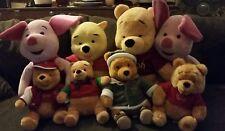 Winnie the pooh disney store plush lot of 8