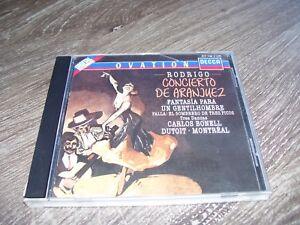 Rodrigo Concierto De Aranjuez Bonell Dutoit Montreal * DECCA CD 1988 *