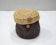 Basket Indonesian Round Woven Sisal Box