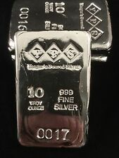 10oz Hand Poured 999 Silver Bullion Bar by Yeagers Poured Silver YPS