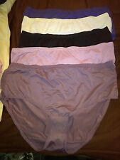 Fruit of the Loom 5 Pair of multi color high brief polyester Panties size 8